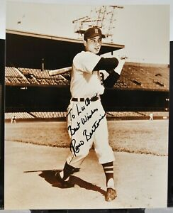 "8"" x 10"" Autographed Photo of Baseball Player - Reno Bertoia - c.1988"