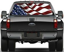 USA American Flag Rear Window Graphic Decal for Truck SUV Vans Minivan Version 1