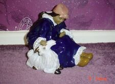 Lovely Oriental Figurine Ornament Oriental Person With Goat