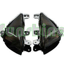 Black Turn Signal Indicators For Kawasaki ZX10R 2006-2007,Z1000 2007-2008 2009