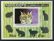 AJMAN State MNH Imperf SS, Wild Cats  -Z3