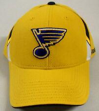 NHL St. Louis Blues Reebok Pro Shape Velcroback Curve Brim Cap Hat OSFA NEW!