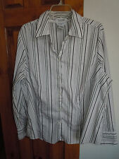 George Woman stretch womens long sleeve button-down blouse size 22W/24W
