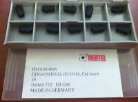 Hertel Indexable Carbide Milling Inserts ODG41581SGD HC335M Qty. 10 #HMX96040A