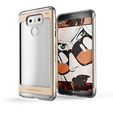 LG G6 Case, Ghostek Cloak 2 Series Clear TPU Aluminum Hybrid Impact Armor Cover