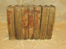 Lot Of 7 Antique Books Of The Spectator Vol.II, III, IV, V, VI, VII, VIII - 1799