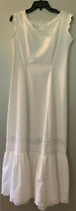 Antique early 1900's full length white cotton petticoat - excellent condition!