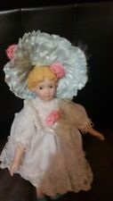 "Baby Porcelain doll cloth body and partial limbs by Hamilton 8"" 1991"