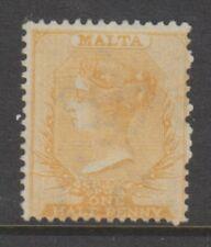 Malta - 1863/81, 1/2d Dull Orange Shades - Wmk Crown CC - No Gum - SG 7 or 12