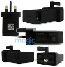 100% GENUINE OFFICIAL SONY MAINS CHARGER & USB DATA CABLE FOR SONY XPERIA PHONES
