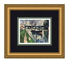 "Super 1958 Maurice VLAMINCK Lithograph ""Boating up the Seine"" Framed SIGNED COA"