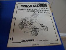 (Drawer 25) Snapper Series 7 8 9 10 11 12 13 Rear Engine Rider Acc Parts Manual