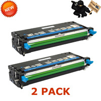 2 PK Compatible 330-1199 Cyan Toner Cartridge For Dell 3130 C 3130CN High Yield