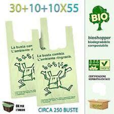 Shopper Biodegradabili 30x55 Cm Cartone 4 KG (ca. 250pz) sacchetti Norma EN13432