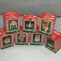 McDonalds Enesco Vintage Ornaments 1990-1993 Lot of 7 Boxed Happy Meal Big Mac