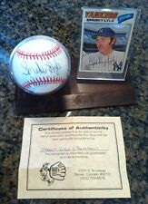 SPARKY LYLE, New York Yankees, single signed baseball w/ COA