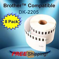 8 Rolls Labels123 Brand Fits Brother Dk 2205 P Touch Ql700 Ql500 300 Lroll