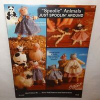 Spoolie Animals Just Spoolin Around Pattern Leaflet Book 2187  1991 Jean Kievlan