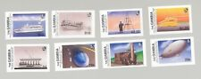 Gambia #778-785 Zeppelins, Trains, Ships 8v Imperf Proofs