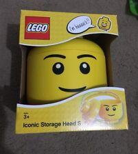 Lego Storage Head S Small Boy New in Original Box, 6.3 x 7.6 inches Brick Iconic