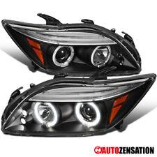 05-10 Scion TC Black LED DRL Dual Halo Projector Headlights