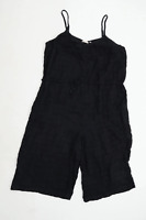 Fat Face Womens Size 10 Cotton Strappy Black Playsuit (Regular)