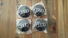 Audi 68mm BLACK Alloy Centre Caps A1 A2 A3 A4 A5 A6 A8 Q5 Q7 TT Best Q UK Stock