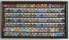 Challenge Coin Medal Display Case Wall Shadow Box Cabinet, Mirror Back, COIN4-MA