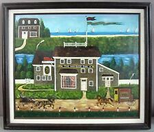'WAYSIDE INN'__Acrylic on Canvas__Style of Wysocki__Signed/Framed__SHIPS FREE