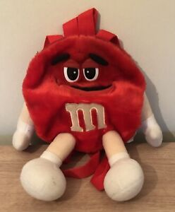 Official M&M M&M's Red Plush Backpack Rucksack 2002