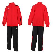 Umbro Kinder Trainingsanzug Sportanzug Jogginganzug Junior Rot-Schwarz