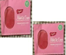 "MAKEUP ERASER Cloth Sample SET OF 2 SEALED Premium 4x3"" Pink I SHIP IN 2 DAYS!"