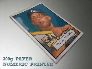 PRINTED 1952 MICKEY MANTLE Baseball Card Numeric printed N.Y New York Yankees