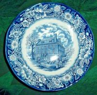 Staffordshire LIBERTY BLUE Round Vegetable Bowl 8.625 in. Fraunces Tavern