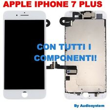 DISPLAY+TOUCH SCREEN+FRAME+FOTOCAMERA PER APPLE IPHONE 7 PLUS A1661 A1784 BIANCO
