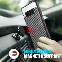 For Samsung Galaxy S10/S10 Plus/S10e Magnetic Backplate Carbon Fiber Case Cover