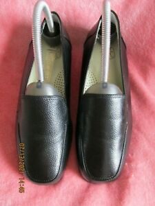WOMEN PEDI CONFORT REAL LEATHER SLIP ON SHOES BLACK SIZE 4 NEW