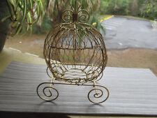 Mini Cinderella Carriage (Gold) for Wedding or Birthday Decorations