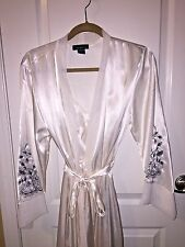 White Long BRIDAL Gown & Robe Jones New York Intimates Size Small $MSRP 146.00