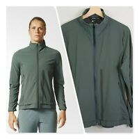 [ ADIDAS ] Womens Ultra Energy Khaki Running Jacket  | Size L or AU 14 / US 10