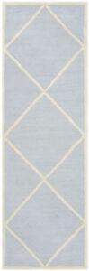 Safavieh Cambridge LIGHT BLUE / IVORY Wool Runner 2' 6 x 10' - CAM136A-210