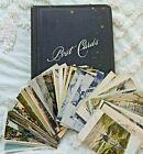 1906-21 Railroad Postcard Album / Diary Train Travels 46 Stations Depots Trains