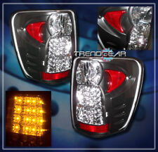 1999-2004 JEEP GRAND CHEROKEE LED TAIL LIGHTS LAMP BLACK LIMITED TSi 2000 2001