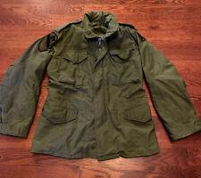 Vtg Alpha Industries (?) Field Coat M-65 Vietnam Era Green Jacket Calvary Patch