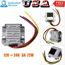 Waterproof Dc Converter 12V to 24V 3A 72W Step-Up Boost Power Supply Module Car
