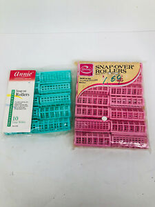 Vintage Goody Snap Over Rollers 2 Sets  Of 24 rollers Large Rollers Annie new