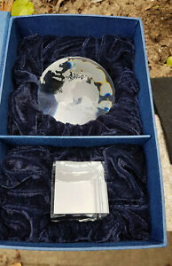 Solid Optical Crystal Glass Earth Globe on Base Brand New & Boxed