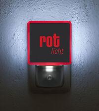 """Nachtlicht / Nightlight """"Rotlicht"""" LED-Steckdosenlampe mit Tag-/Nachtsensor"""