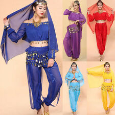 Belly Dance Costume Bra Top Set Indian dancing Skirt Clothes Pants Costumes Set