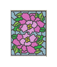 Oriental Peonies Beaded Banner Pdf Pattern Only